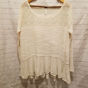 Free People | Textured Knit Tunic M